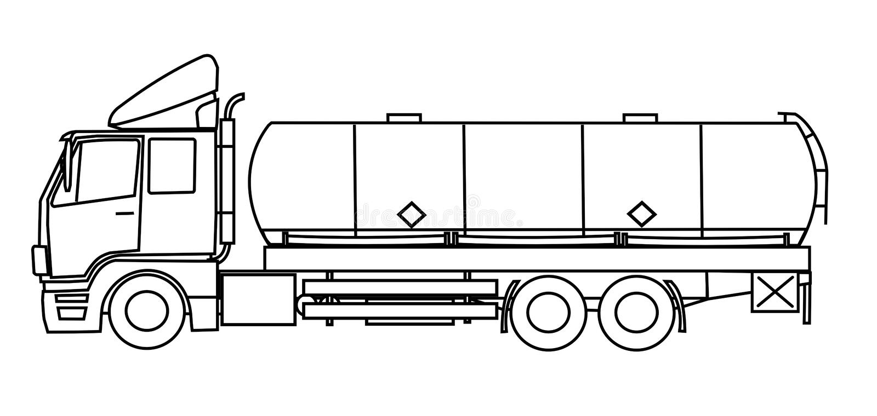 Download Tank truck stock illustration. Illustration of illustration - 23176142