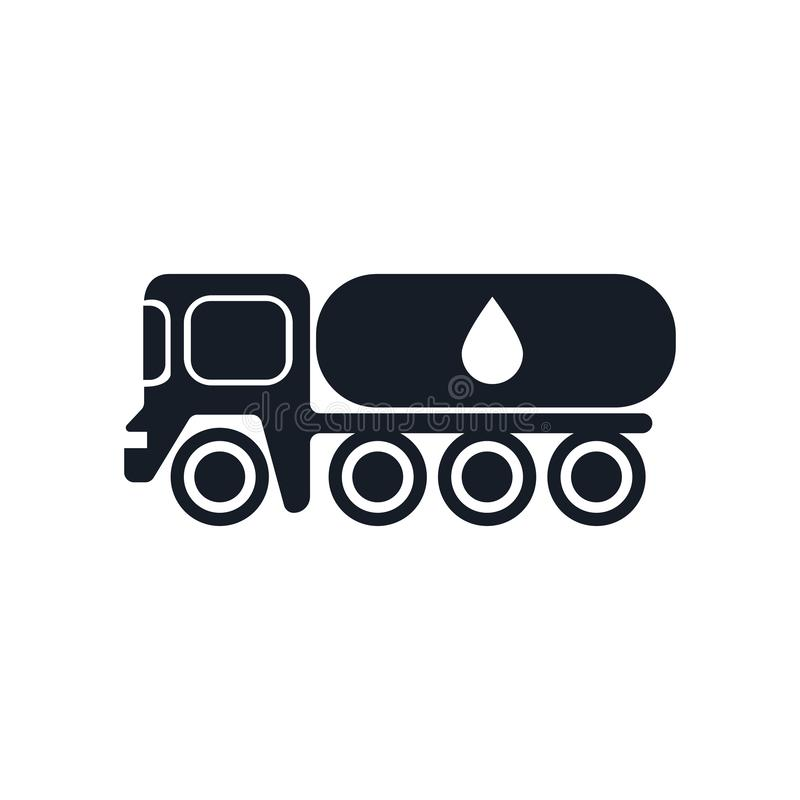 Tank truck icon vector sign and symbol isolated on white background, Tank truck logo concept vector illustration