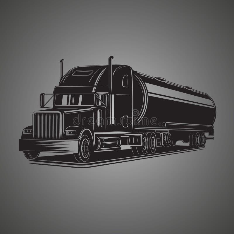 Tank truck vector illustration. Modern tanker isolated vector vector illustration