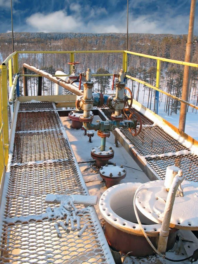 Tank van de olie 8 hemel royalty-vrije stock fotografie