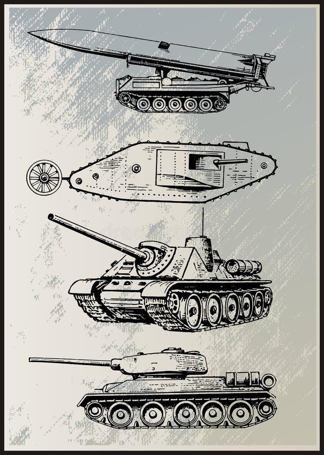 Download Tank Vector Set stock vector. Illustration of battle - 35614619