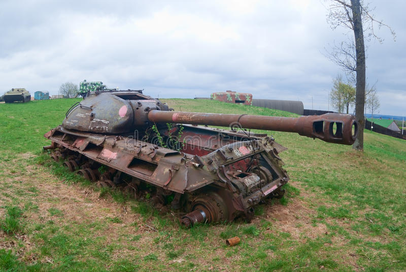 Download Tank wreck stock image. Image of dismantle, cannon, damage - 23507251