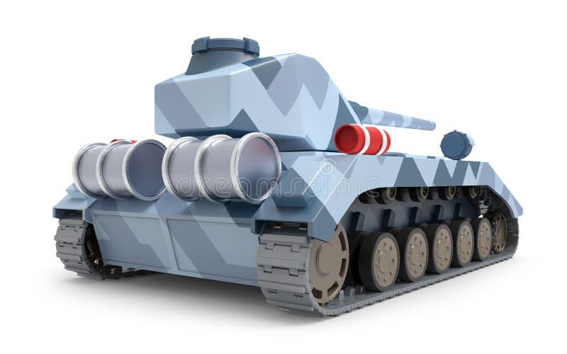 Tank zware fantastische rug stock illustratie