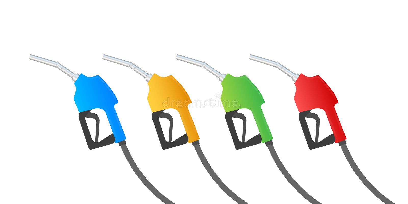 Tanka bensin eller det diesel- vektorreng?ringsdukbanret Bensinstationer knyter kontakt, oljor konstruktionsillustrationmateriel  royaltyfri illustrationer