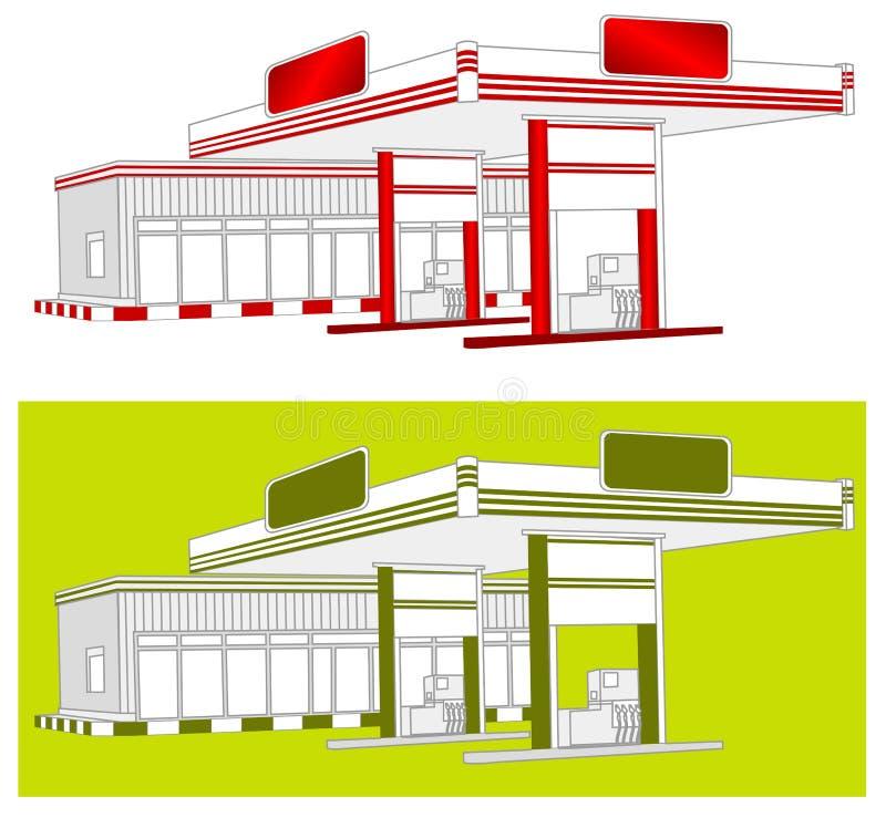 tanka stationen vektor illustrationer