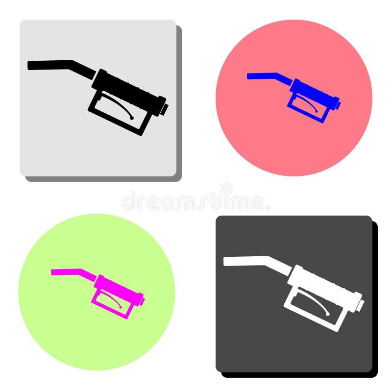 Tanka vapnet Plan vektorsymbol stock illustrationer