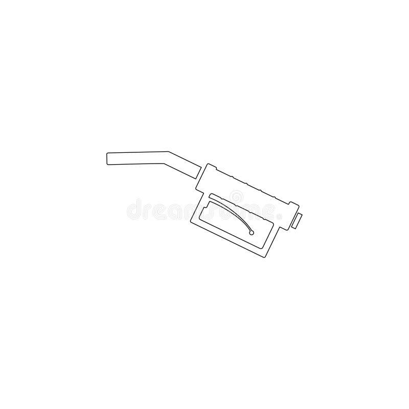 Tanka vapnet Plan vektorsymbol vektor illustrationer