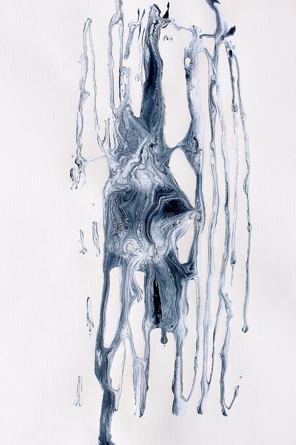 Tankar i mitt huvud målad bakgrundshand Fragment av konstverk arkivfoto