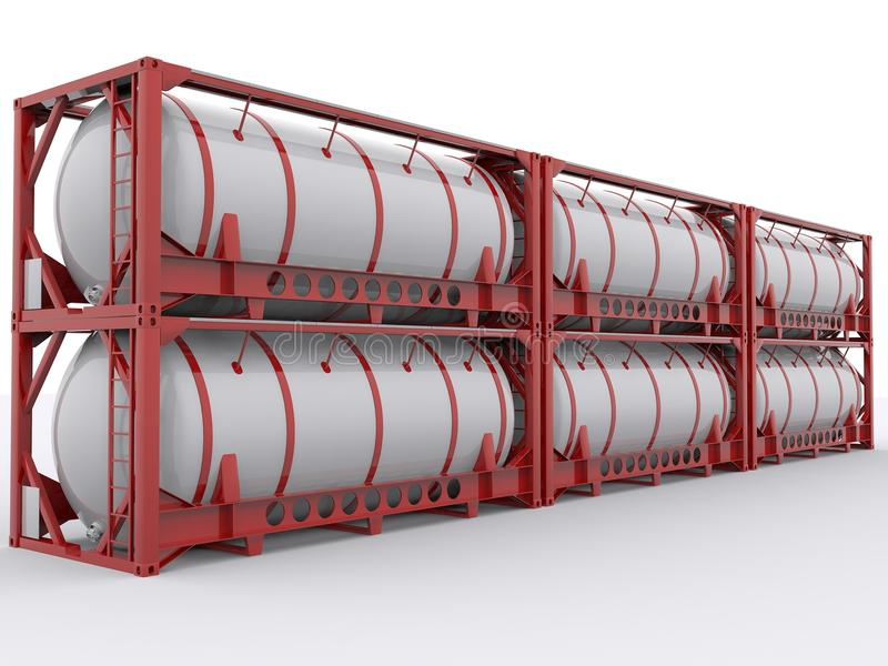 Tankcontainer vector illustratie