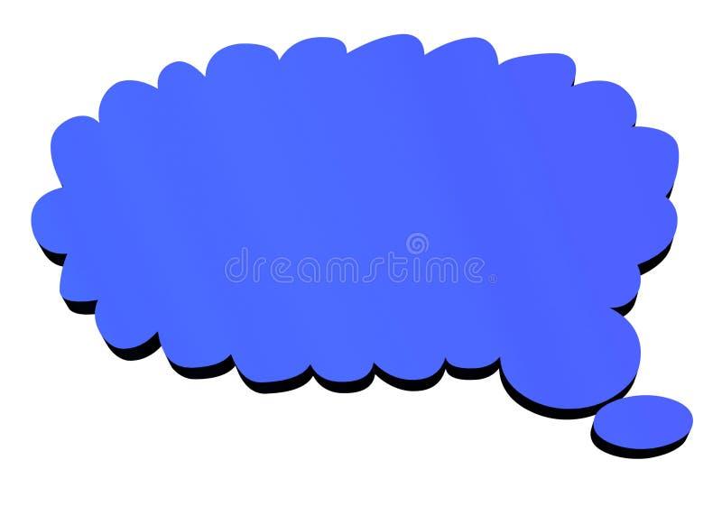 tanke för bubbla 3d stock illustrationer