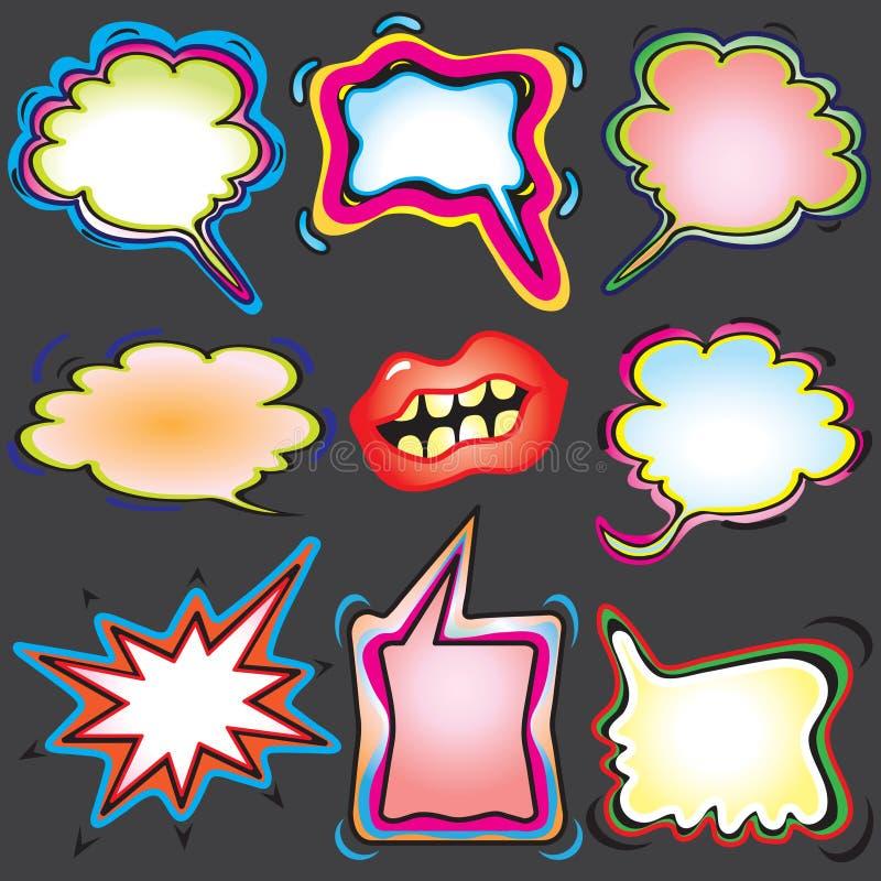 tanke för bubblamålarfärgspray stock illustrationer