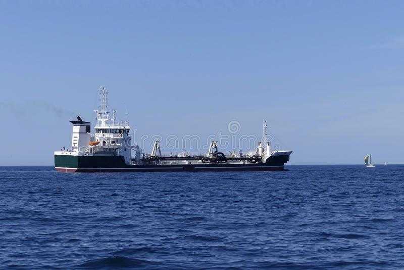 Tanker am Anchorage stockbilder