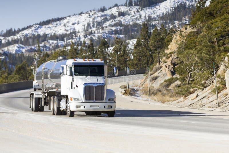 Tanker Big Rig Semi Truck royalty free stock image