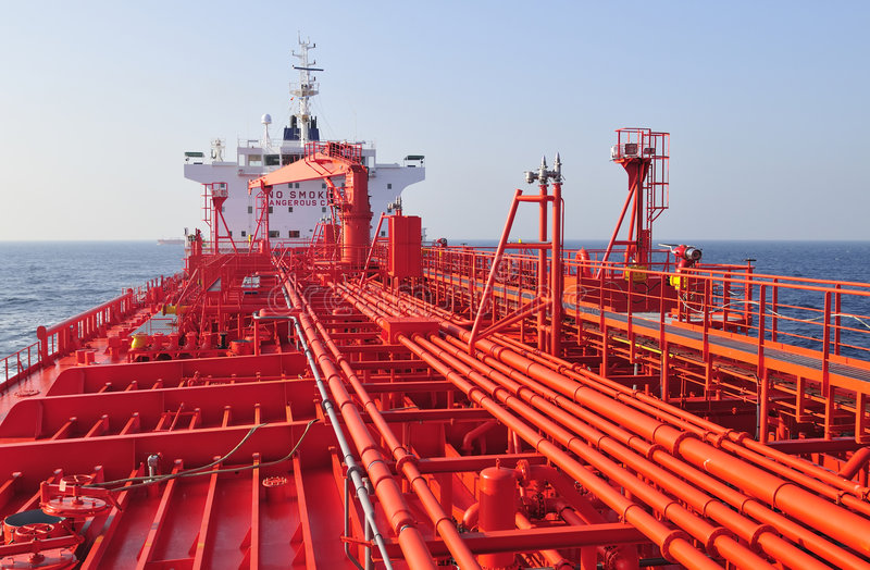 Tanker crude oil carrier ship. Designed for transporting natural gas stock images