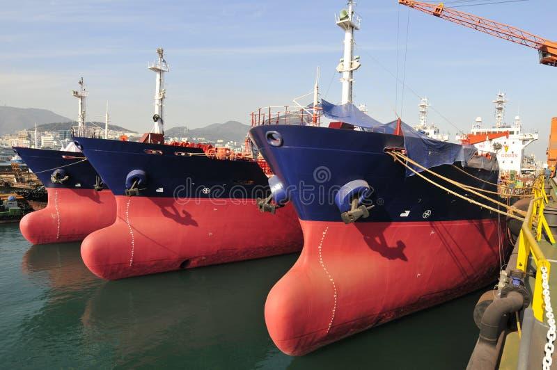 Tanker in der Werft lizenzfreies stockbild