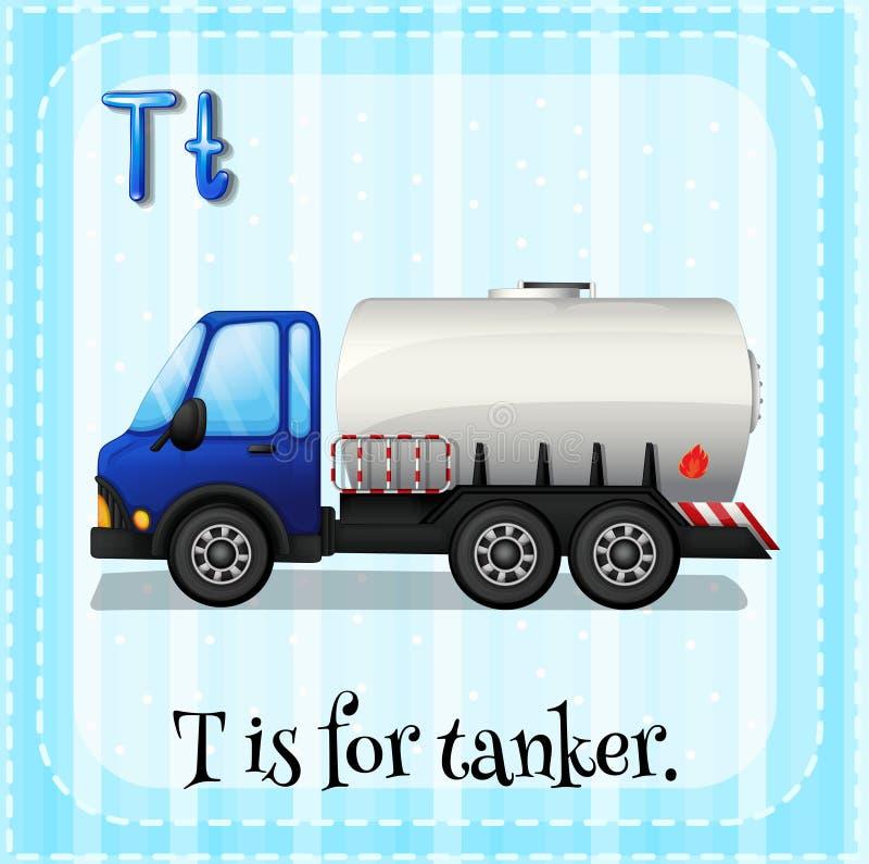 Tanker. Flashcard letter T is for tanker royalty free illustration