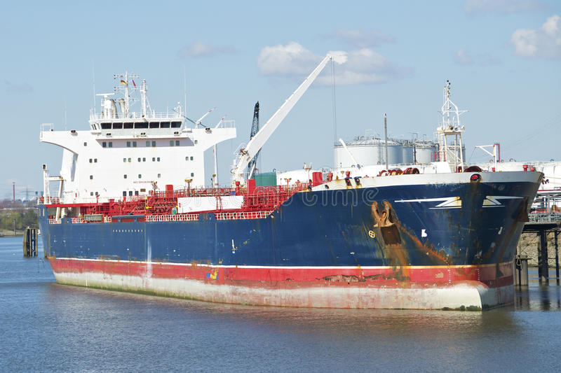 A Tanker in the harbor of Hamburg