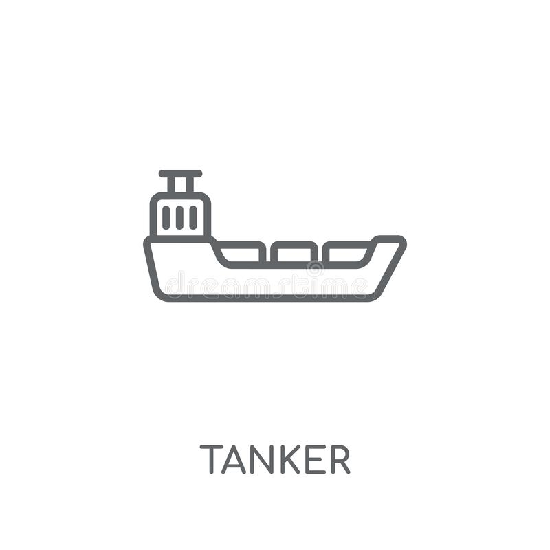 Tanker linear icon. Modern outline Tanker logo concept on white. Background from Transportation collection. Suitable for use on web apps, mobile apps and print stock illustration