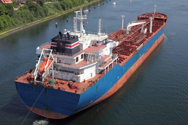 Tanker op Kiel Canal royalty-vrije stock fotografie