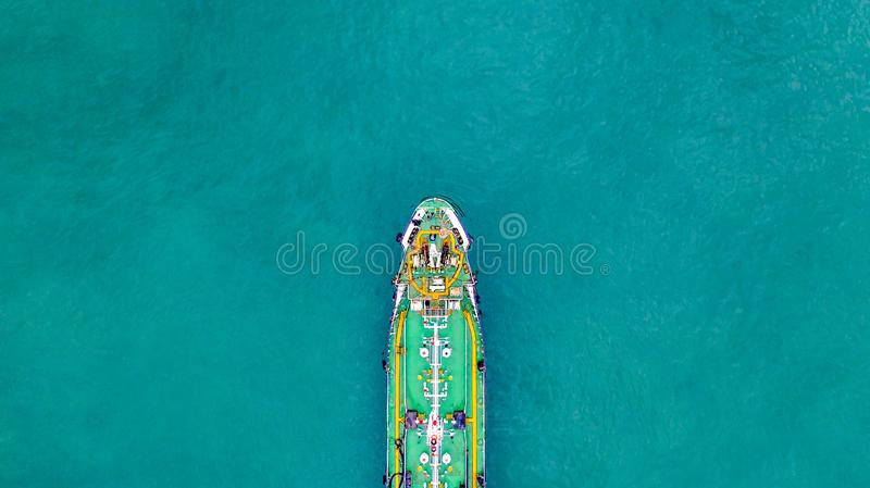 Tanker ship carrying oil and gas in the sea support freight transportation import export business logistic, Aerial view tanker. Ship stock photos
