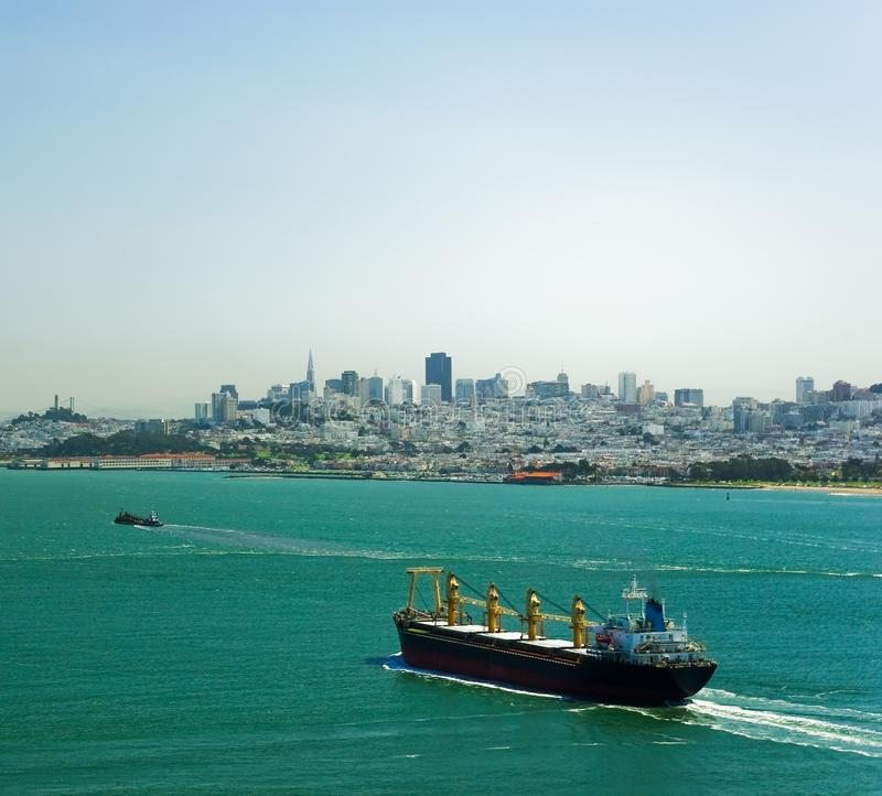 Download Tanker with skyline stock image. Image of freight, nautical - 10667251