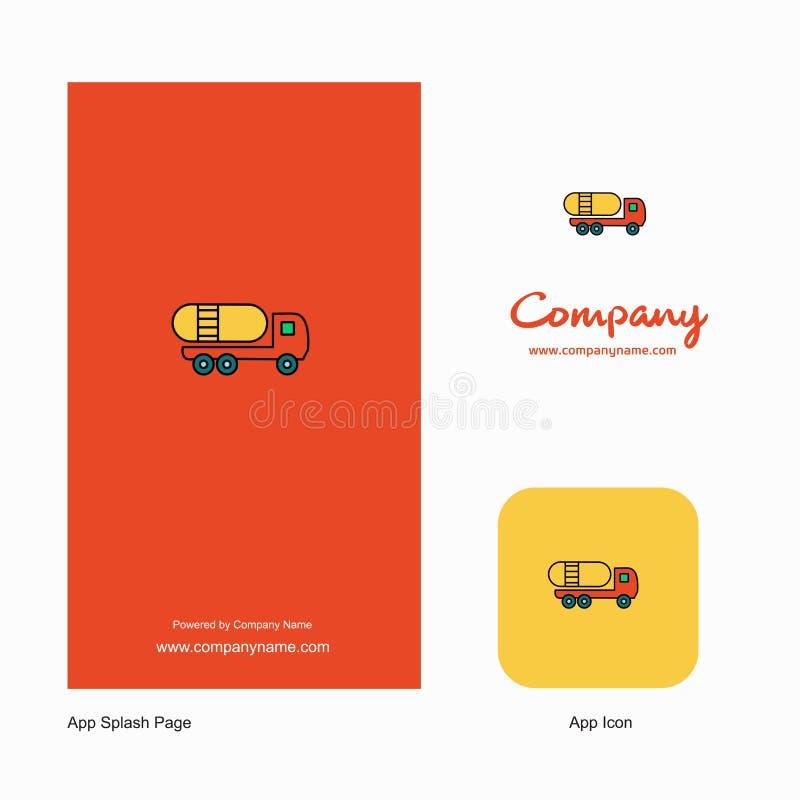 Tanker truck Company Logo App Icon and Splash Page Design. Creative Business App Design Elements stock illustration