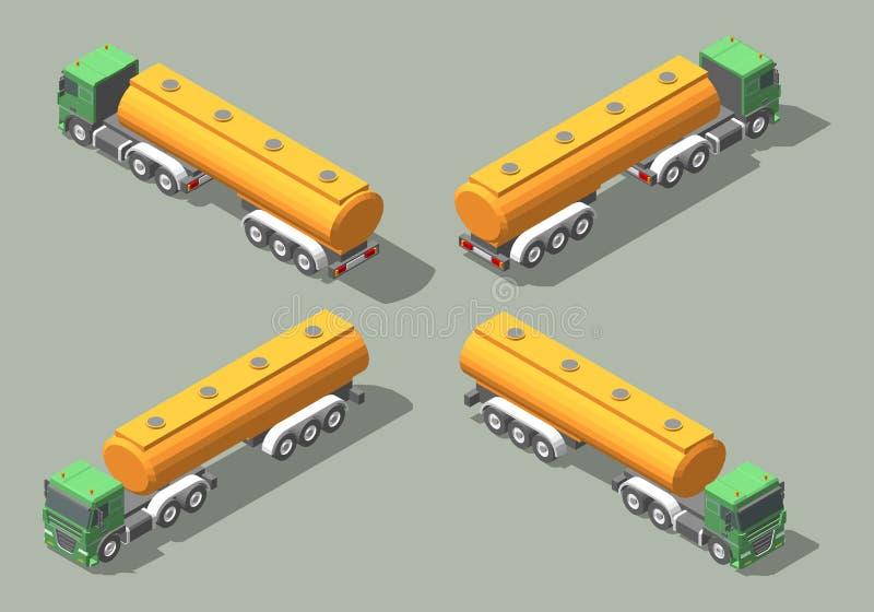 Tanker Truck isometric icon vector graphic illustration design. Infografic elements stock illustration