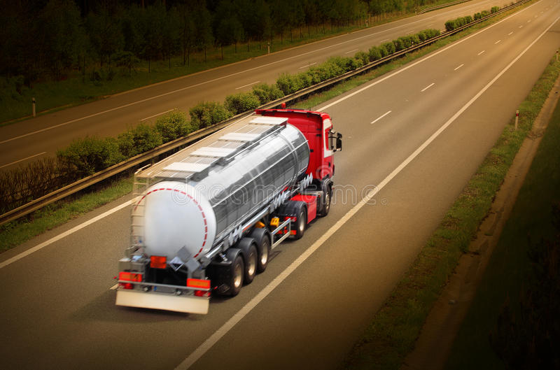 The tanker truck. stock photos