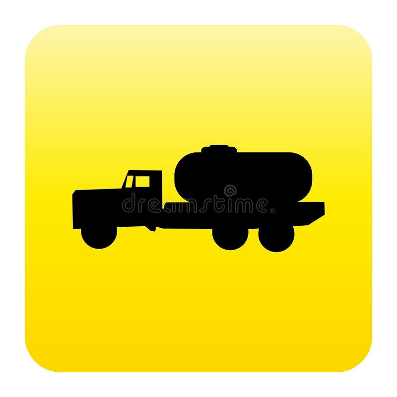 Tanker truck web button stock illustration