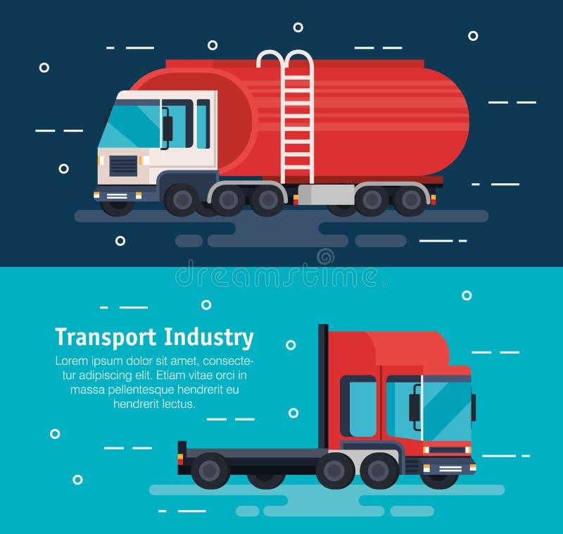 Tanker trucks logistic service stock illustration