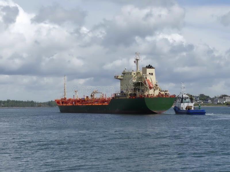 Tankership docking at the Oil Terminal stock photo