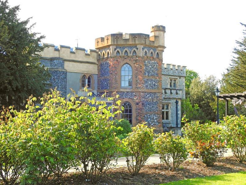 Tankerton塔防御庄园住宅家豪宅堡垒英国英语家庭家庄严庭院 图库摄影