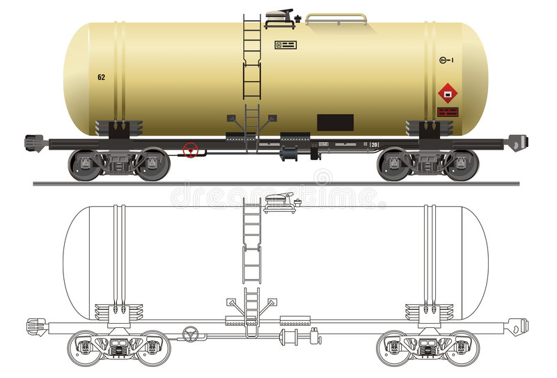 tankfartyg för bilbensinolja royaltyfri illustrationer