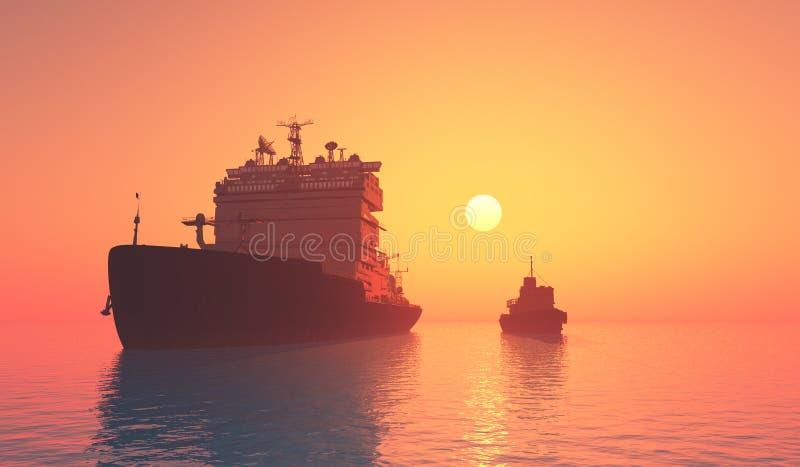 tankfartyg stock illustrationer