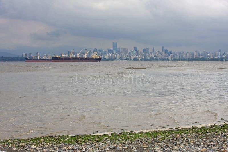 Tankfartyg på engelska fjärd, Vancouver arkivbild