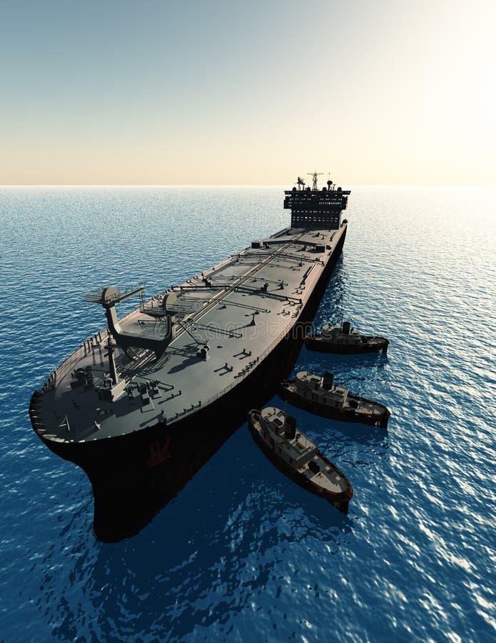 Tankfartyget royaltyfri illustrationer