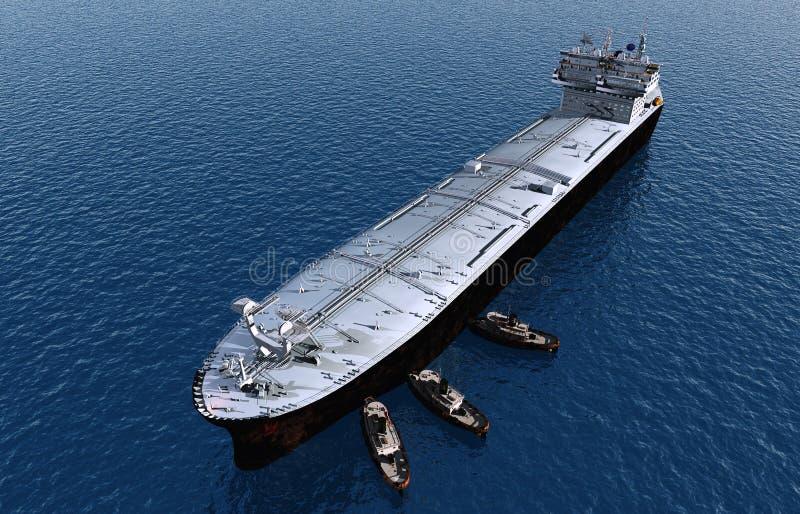 Tankfartyget vektor illustrationer