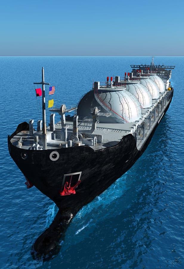 Tankfartyget stock illustrationer