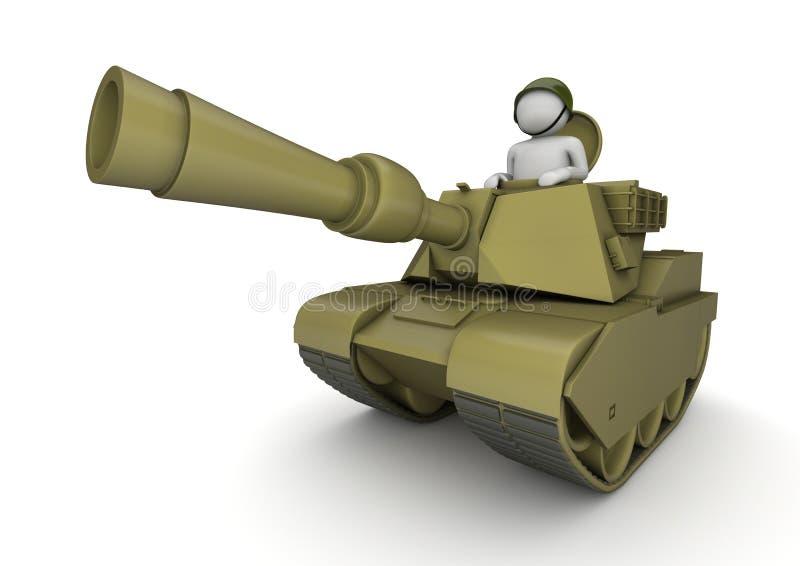 Tankman - esercito illustrazione vettoriale
