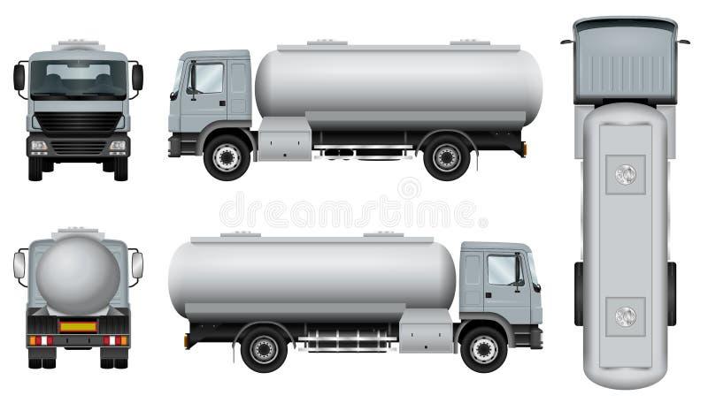 Tankowa samochodu szablon ilustracja wektor