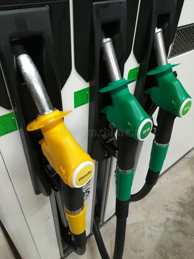 TanksäuleTankstelle stockbild