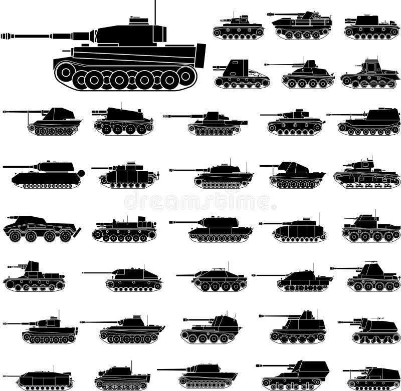 Tanks vector illustratie