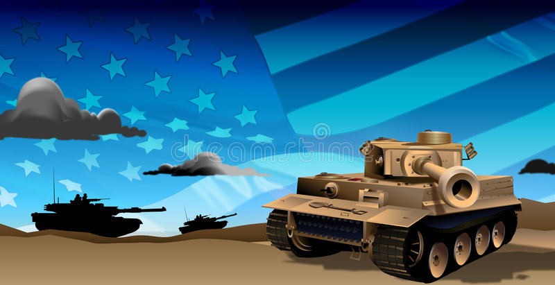Tanks at Night royalty free illustration