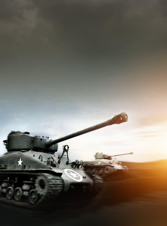 Tankslag stock afbeeldingen