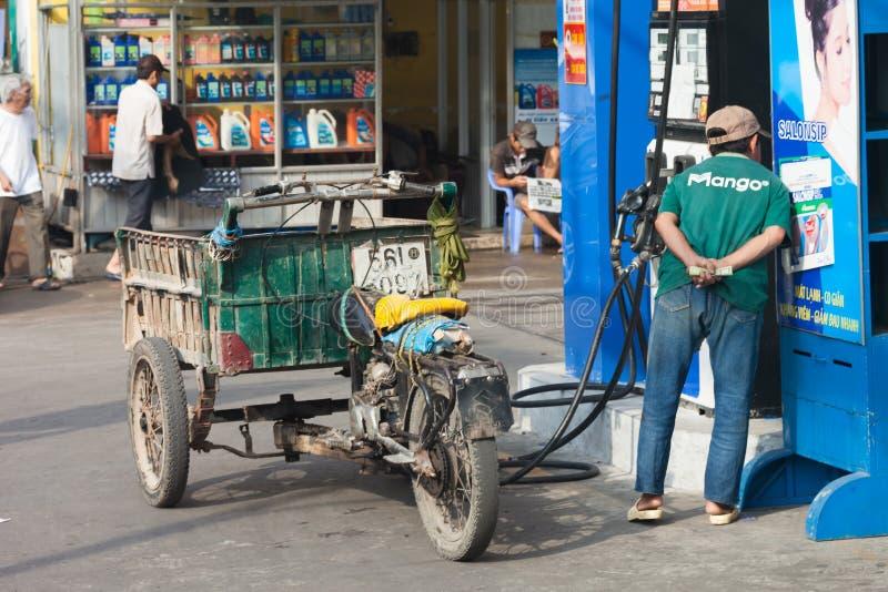 Tankstelle in Ho Chi Minch City in Vietnam stockfoto