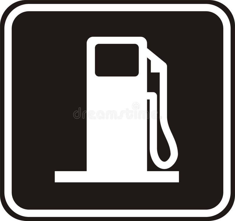 Tankstelleplatte stock abbildung