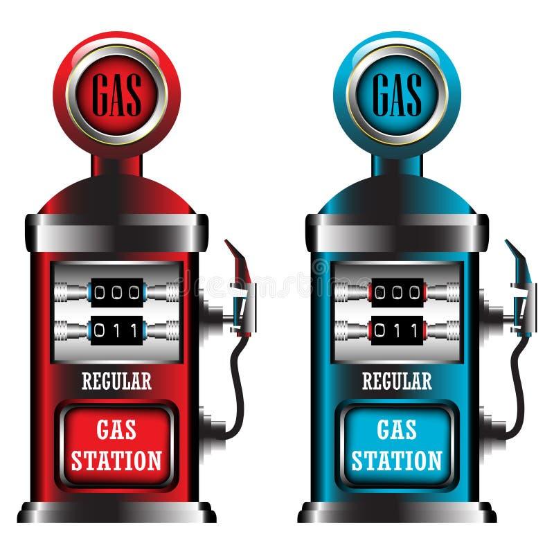 Tankstellepumpen vektor abbildung