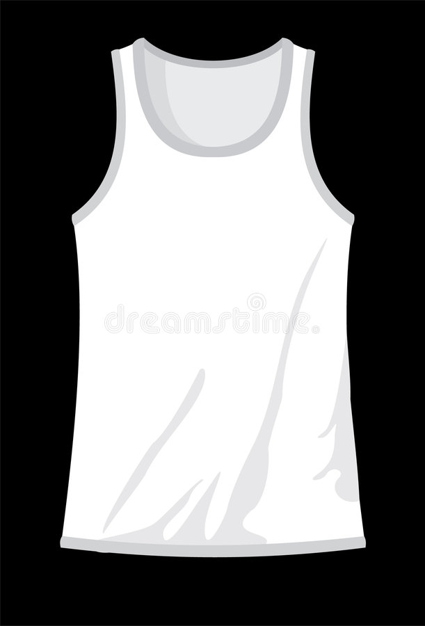 Tanktop-branco ilustração royalty free
