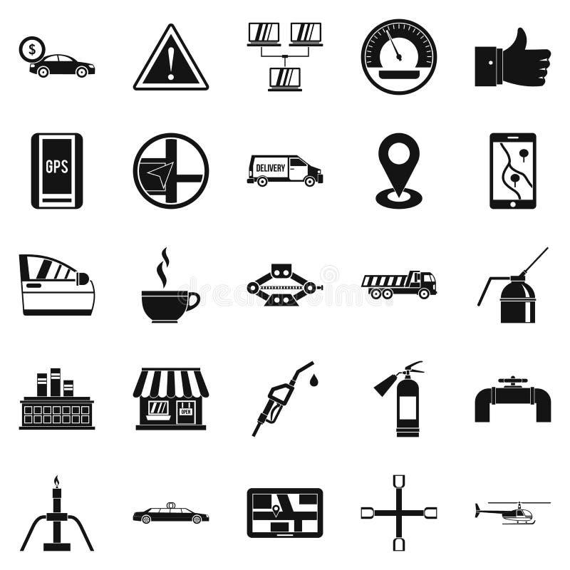 Tankujący ikony ustawiać, prosty styl ilustracja wektor