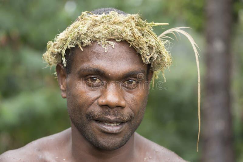 Tanna, Republic of Vanuatu, o 12 de julho de 2014, retrato de um indi imagens de stock royalty free